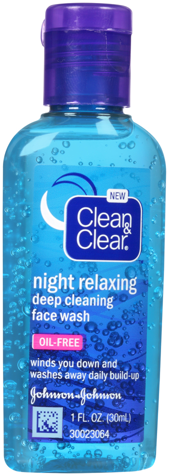 Clean & Clear® Night Relaxing Deep Cleaning Face Wash 1 fl. oz. Bottle