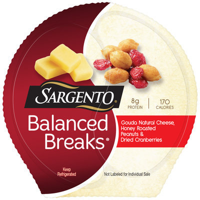 Sargento® Balanced Breaks® Gouda Natural Cheese/Honey Roasted Peanuts/Dried Cranberries Snacks 3-1.5 oz. Pack