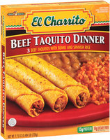 El Charrito™ Beef Taquito Dinner 7.75 oz. Box