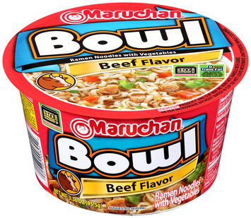 Maruchan® Beef Flavor Ramen Noodles with Vegetables 3.36 oz. Bowl