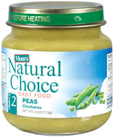 Mom's Natural Choice Baby Food Peas 4 oz Jar