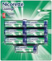 NICORETTE Lozenge Mint Flavor 4mg Poppacs Stop Smoking Gum 189 CT BOX