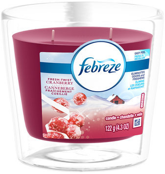 Candle Febreze Scented Candle Fresh Twist Cranberry Air Freshener (1 Count, 4.3 oz)