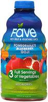 Fave® Pomegranate Blueberry Goji 100% Fruit & Vegetable Juice 46 fl. oz. Bottle