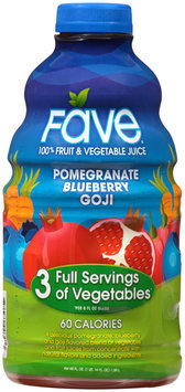 Fave® Pomegranate Blueberry Goji 100% Fruit & Vegetable Juice 46 fl. oz. Bottle