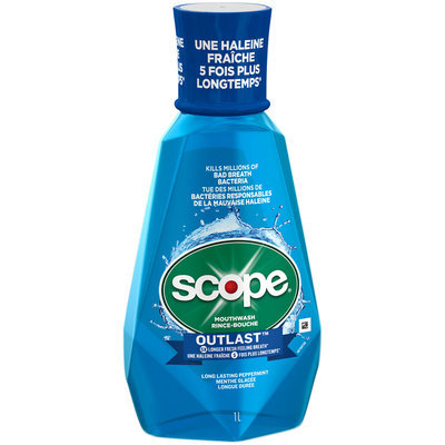 Outlast Scope Outlast Long Lasting Peppermint Mouthwash, 1 L
