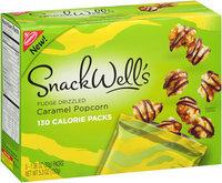 Nabisco Snackwell's White Fudge Drizzled Caramel Popcorn 5-1.06 oz 130 Calorie Packs