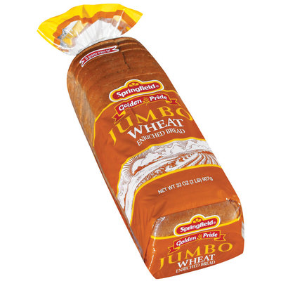 Springfield Jumbo Wheat Bread 32 Oz Bag