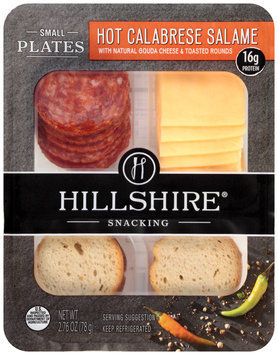 Hillshire® Snacking Small Plates Hot Calabrese Salame with Natural Gouda Cheese & Toasted Rounds 2.76 oz. Tray