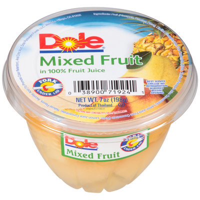 Dole® Mixed Fruit in 100% Fruit Juice 7 oz. Cup