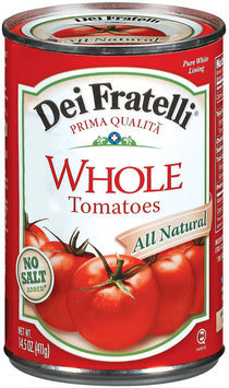 Dei Fratelli Whole No Salt Added Tomatoes 14.5 Oz Can