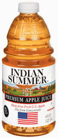 Indian Summer Not from Concentrate 100% Pasteurized Apple Juice Fresh