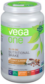Vega™ One All-In-One Nutritional Shake Coconut Almond Flavor Drink Mix 29.4 oz. Plastic Bottle