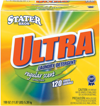Stater Bros. Ultra Regular Scent 120 Loads Laundry Detergent 190 Oz Box