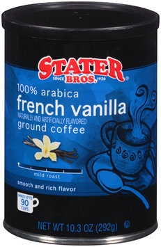 Stater Bros.® French Vanilla Mild Roast Ground Coffee 10.3 oz. Canister