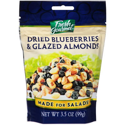 Fresh Gourmet® Dried Blueberries & Glazed Almonds 3.5 oz. Pouch