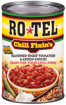 Ro*Tel Chili Fixin's Seasoned Diced Tomatoes & Green Chilies 10 Oz Can