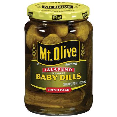 Mt. Olive Baby Dills Jalapeno Flavored Fresh Pack Pickles 24 Oz Jar