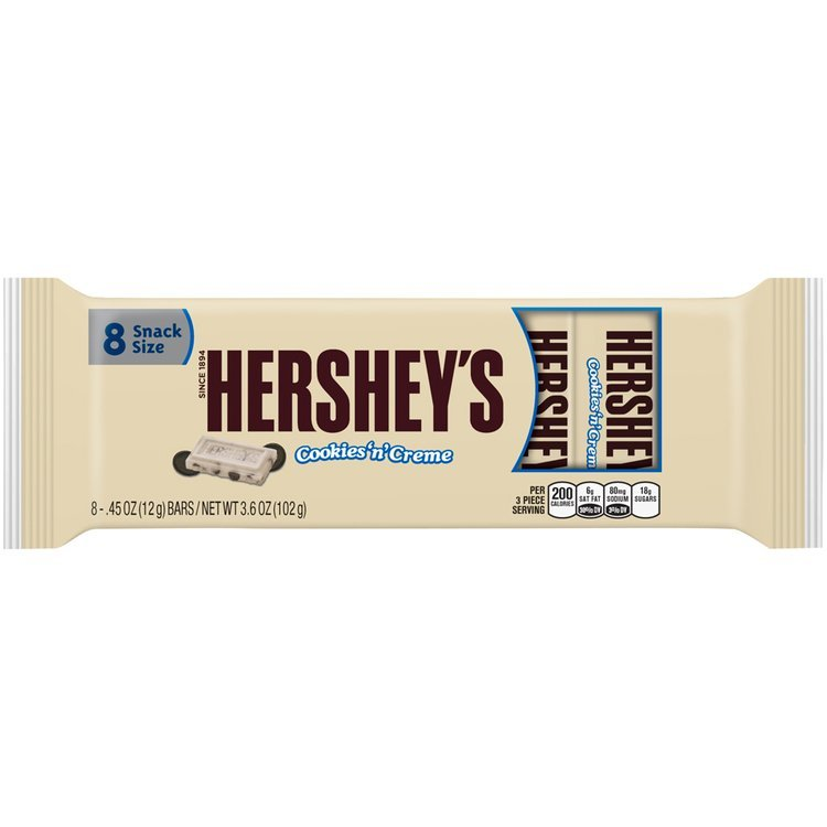 Hershey's® Snack Size Cookies 'n' Cream Candy Bars 8-0.45 oz. Wrappers