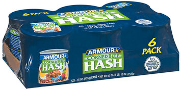 Armour Corned Beef 15 Oz Hash 6 Pk Cans