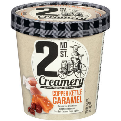 2nd St. Creamery™ Copper Kettle Caramel Ice Cream 1 pt. Cup