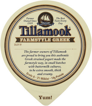 Tillamook® Farmstyle Greek Oregon Strawberry Strained Lowfat Yogurt 5.3 oz. Cup