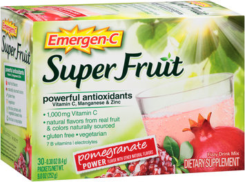 Emergen-C® Super Fruit Pomegranate Power Drink Mix Dietary Supplement 30-0.30 oz. Packets