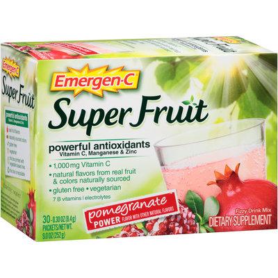 Emergen-C® Super Fruit Pomegranate Power Drink Mix Dietary Supplement 30-0.30 oz. Packets