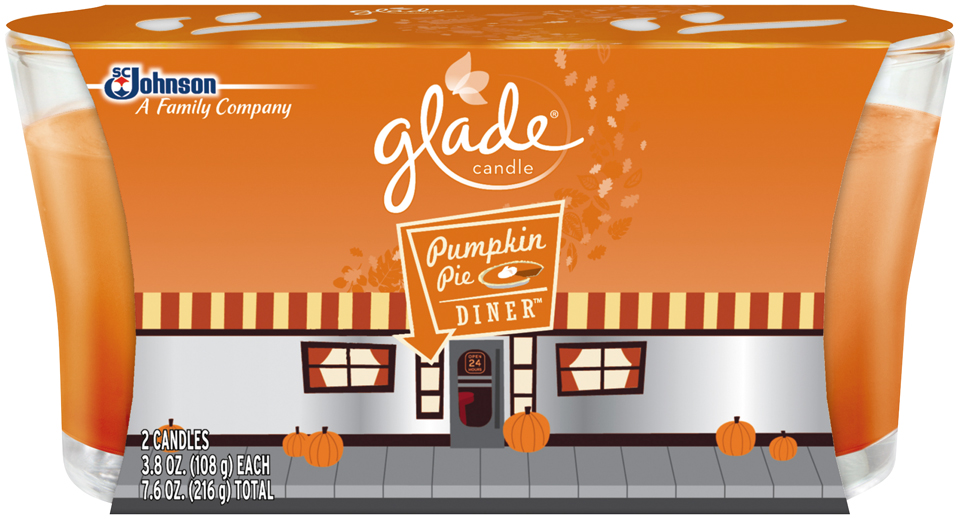 Glade® Pumpkin Pie Diner™ Candle 2-3.8 oz. Candles
