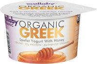 Wallaby® Organic Greek Lowfat Yogurt with Honey 5.3 oz. Cup
