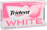 Trident White Minty Bubble Sugar Free Gum