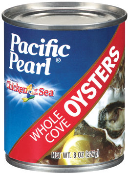 Pacific Pearl® by Chicken of the Sea® Whole Cove Oysters 8 Oz Can