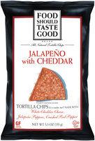 Food Should Taste Good Jalapeno with Cheddar Tortilla Chips