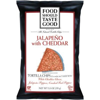 Food Should Taste Good® Jalapeno with Cheddar Tortilla Chips 5.5 oz. Bag