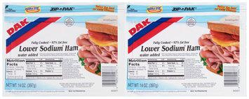 Dak® Lower Sodium Ham 2-14 oz. ZIP-PAK®