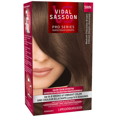 Vidal Sassoon Pro Series 5WN Medium Chocolate Brown Hair Color Kit