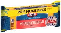 Kraft Medium Cheddar Cheese 9.6 oz. Pack