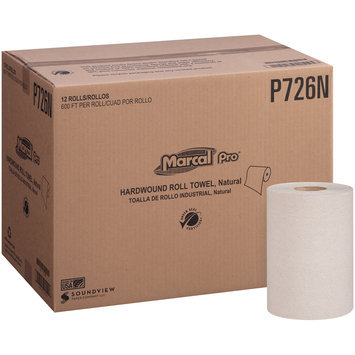 Marcal Pro-Putney White Natural Hardwound Roll Towel 12 ct Box