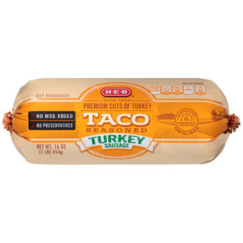H-E-B® Taco Seasoned Turkey Sausage 16 oz. Chub