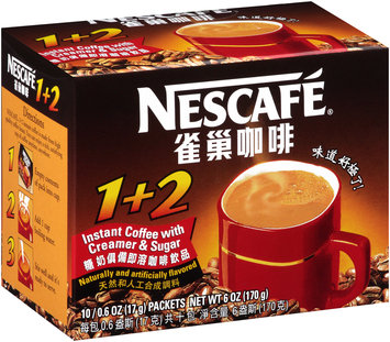 Nescafe® 1 + 2 Instant Coffee with Creamer & Sugar 10-0.6 oz. Packets