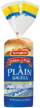 Springfield Plain 6 Ct Bagels 18 Oz Bag