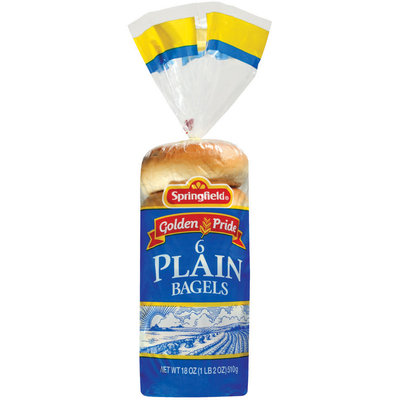 Springfield Plain 6 Ct Bagels 18 Oz Bag