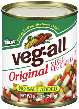 Veg-All Original No Salt Added Mixed Vegetables 8.5 Oz Can
