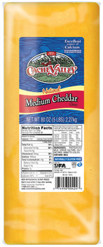 Cache Valley® Natural Medium Cheddar Cheese 5 lb. Brick