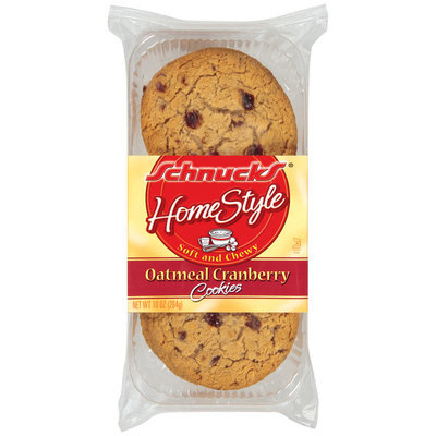 Schnucks Oatmeal Cranberry Cookies 10 Oz Tray