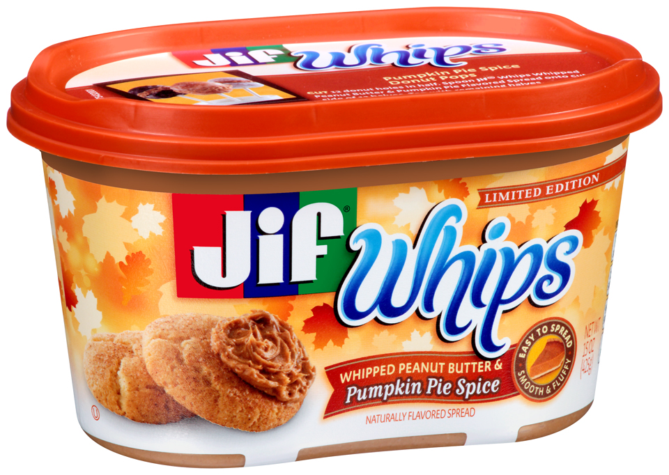 Jif® Whips Whipped Peanut Butter & Pumpkin Pie Spice Spread 15 oz. Tub