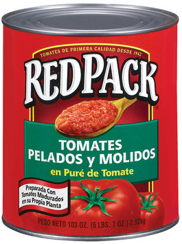 RedPack Ground Peeled In Tomato Puree Tomatoes 103 Oz Can