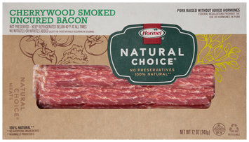Hormel® Natural Choice® Cherrywood Smoked Uncured Bacon 12 oz. Package