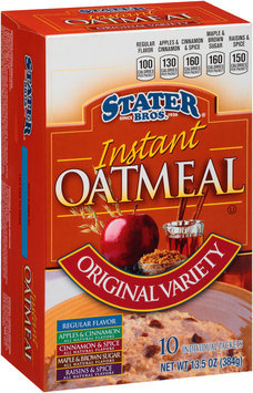 Stater Bros.® Original Variety Instant Oatmeal 10 ct Box