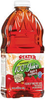 Stater Bros. Apple & Raspberry Unsweetened 100% Juice 64 Fl Oz Plastic Bottle